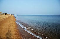 莱州黄金海岸清澈的海水沙滩