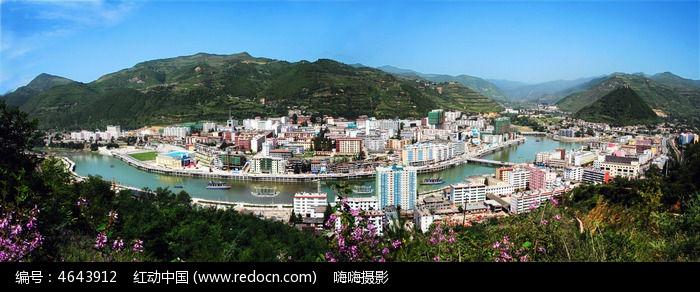 陕西凤县城市全景