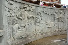 七仙女墙壁雕塑
