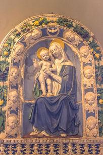 圣母陶瓷浮雕