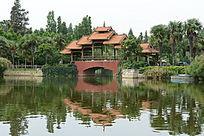 亭阁小桥风景