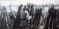 乌苏里江边日军监视苏军动向