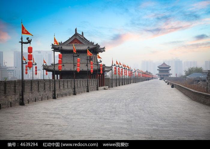 西安古城墙图片图片,高清大图_名胜古迹素材