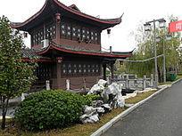 公园古建筑风景