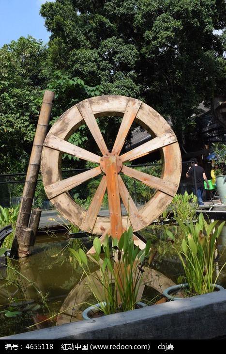 古代水转风车
