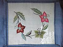 花朵图案满族刺绣