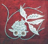 金鱼图案满族刺绣