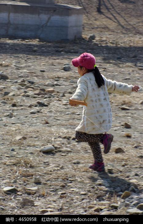 女孩放风筝高清图片下载 编号4650958 红动网图片