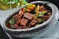 青瓜捞汁牛肉