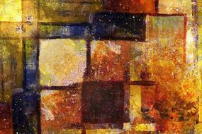 色块抽象油画无框画