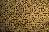 深黄色调暗花纹图案壁纸墙纸背景素材