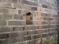 世界文化遗产福建土楼的青砖墙