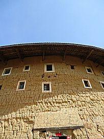 世界文化遗产福建土楼木窗泥巴墙