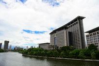 温州市政府办公大楼全景图