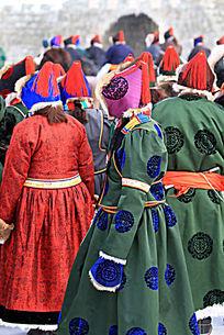 布里亚特蒙古族女性红樱帽