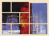 抽象艺术背景墙
