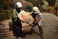 工作中的农民工模型