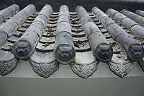 古代神兽屋檐瓦片