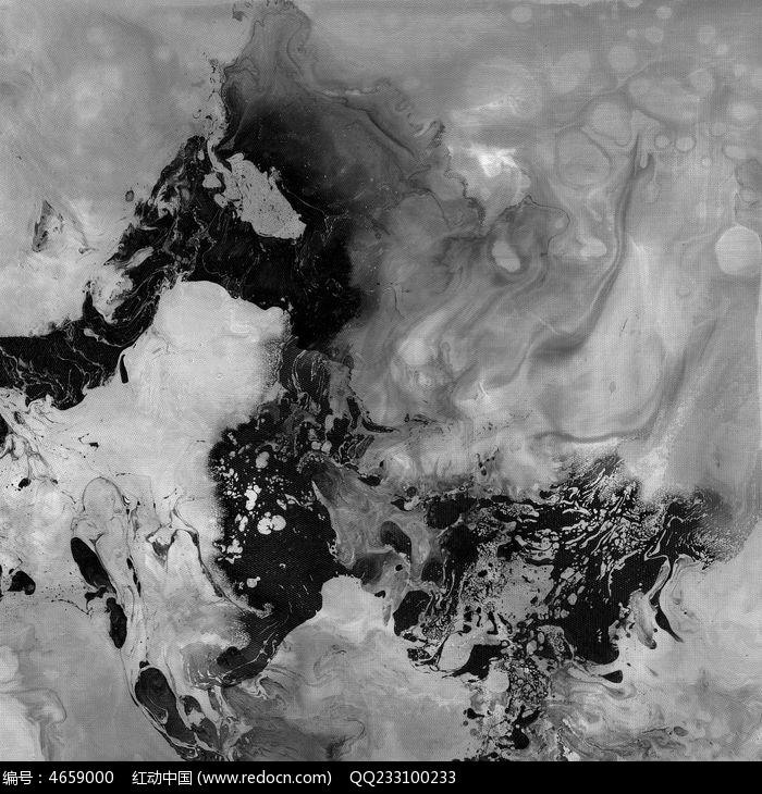 黑白装饰画 现代风格抽象画