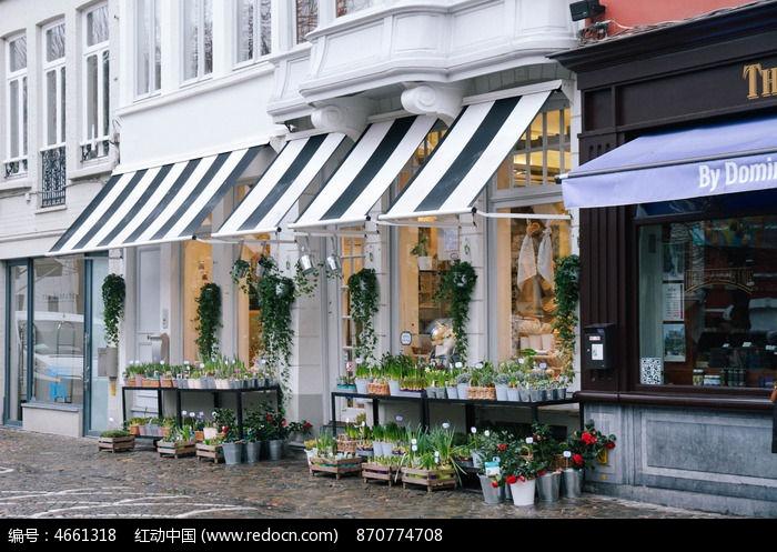 咖啡店街景图片图片