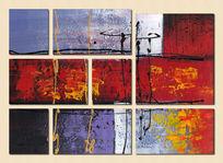 三联抽象画装饰画抽象油画