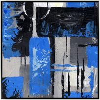 色块抽象画油画抽象画