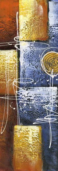 色块抽象画 油画抽象画 无框画