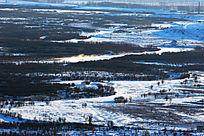 额尔古纳湿地雪景