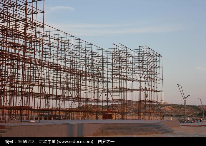 建筑钢架结构图片