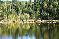 小兴安岭森林湖
