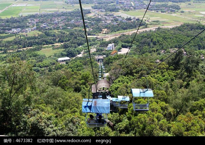 索道 缆车 俯视-东山岭景区索道图片