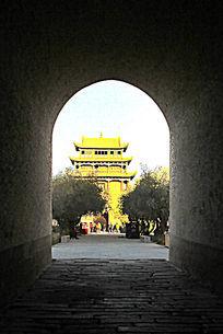 嘉峪关瓮城城门门洞