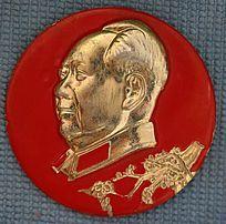 毛主席梅花图案像章