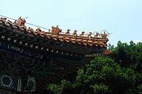世界文化遗产圆明新园带雕刻的房顶
