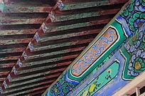 世界文化遗产圆明新园园内房梁上彩色油画