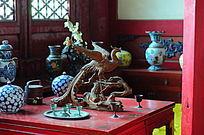 世界文化遗产圆明新园园内凤凰木雕