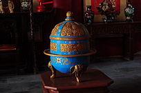 世界文化遗产圆明新园园内提花木雕香炉