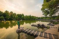 郑州大学的景色