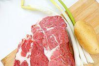 大块生牛肉高质感拍摄