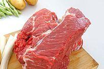 高清拍摄新鲜的生牛肉
