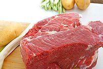 高质感拍摄大块生牛肉