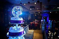 婚礼现场浪漫的蛋糕塔