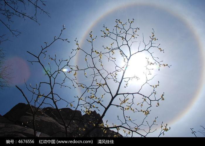 日晕 圆形彩虹