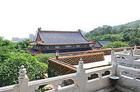 世界文化遗产圆明新园蓝色房顶