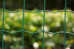 田园内的绿色铁丝网