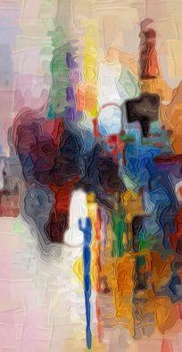 玄关抽象油画 无框画