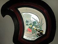 颐和园夹墙葫芦果玻璃彩绘