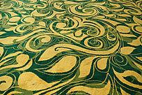 抽象花卉图案地毯素材