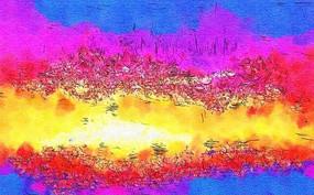 创意色彩墙画