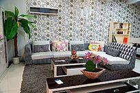 黑白灰色系客厅家具展厅